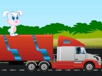Флеш игра Гонка с кроликом на грузовике
