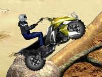 Флеш игра Гонка с трюками на квадроцикле по бездорожью