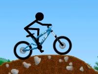 Флеш игра Гонка стикмена на велосипеде