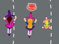 Флеш игра Гонки Аниты на велосипеде