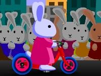 Флеш игра Гонки с кроликами блуни 3