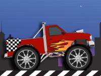 Флеш игра Городской заезд на грузовике монстре