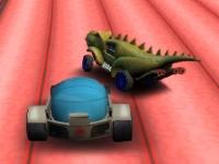Флеш игра Горящие колеса игрушечных машин