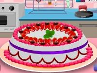 Флеш игра Готовим клубничный торт