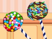 Флеш игра Готовим шоколадные конфеты на палочках