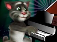 Флеш игра Говорящий кот Том играет на пианино