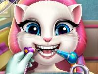 Флеш игра Говорящая Анжела у стоматолога
