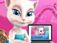 Флеш игра Говорящая кошка Анжела: Пазл