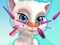 Флеш игра Говорящая кошка Анжела у ЛОРа