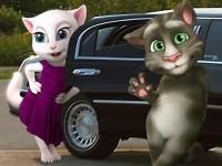 Флеш игра Говорящие Том и Анжела в лимузине