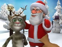 Флеш игра Говорящий Санта