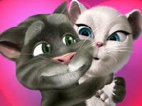 Флеш игра Говорящий кот Том: День Святого Валентина