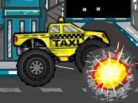 Флеш игра Грузовик-монстр: Такси