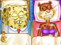 Флеш игра Губка Боб и Сэнди в реанимации
