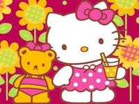 Флеш игра Хелло Китти и мишка Тедди: Пазл