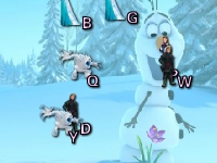 Флеш игра Холодное сердце: Ввод букв