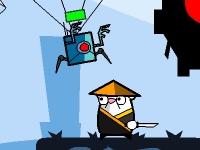 Флеш игра Хомяк ниндзя против роботов