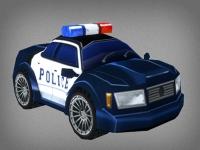 Флеш игра Игрушечная полицейская машина: Пазл