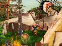 Флеш игра Индийская деревня