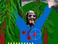 Флеш игра Истребление зомби возле замка