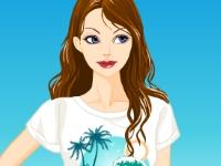Флеш игра Катя идет на пляж
