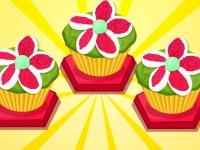 Флеш игра Кексы с зефиром в виде цветов