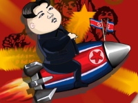 Флеш игра Ким Чен Ын запускает ракету