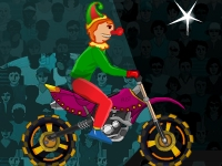 Флеш игра Клоун на мотоцикле