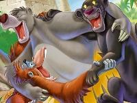 Флеш игра Книга джунглей: раскраска