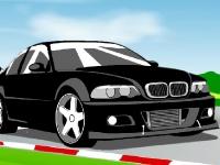 Флеш игра Кольцевая гонка на BMW