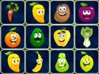 Флеш игра Коннект фруктов и овощей