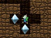 Флеш игра Копай тоннель и собирай алмазы