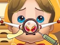 Флеш игра Королевский ребенок: Лечим носик