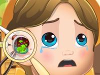 Флеш игра Королевский ребенок: Ушной доктор