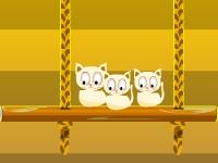 Флеш игра Кошки на качелях