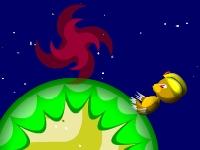 Флеш игра Космический крот: Охота за сокровищами