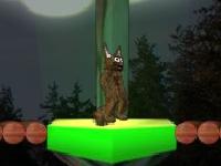 Флеш игра Кот и световые платформы