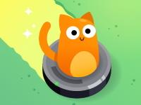 Флеш игра Кот на пылесосе