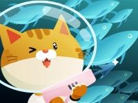 Флеш игра Кот-рыбак