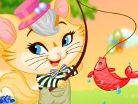 Флеш игра Котик хочет на рыбалку