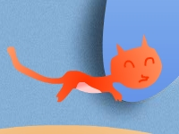 Флеш игра Котик прыгает по собачкам