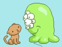 Флеш игра Котики против пришельцев