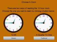 Флеш игра Который час?