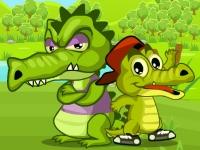 Флеш игра Крокодилы охотятся на уток