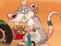 Флеш игра Крыса на байке