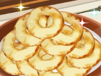Флеш игра Кухня Сары: Бенье из яблок