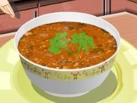 Флеш игра Кухня Сары: Чечевичный суп