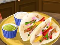 Флеш игра Кухня Сары: Фахитас из курицы