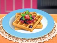 Флеш игра Кухня Сары: Французские вафли