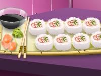 Флеш игра Кухня Сары: Калифорнийские роллы